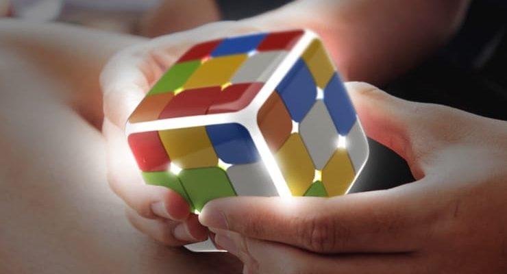 Новая версия кубика Fidget Cube с 12 гранями: Holy Crystal - игрушка-антистресс с Aliexpress