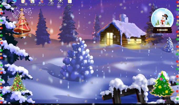 Бумажная новогодняя ёлочка c анимацией для рабочего стола Windows 7/8/10