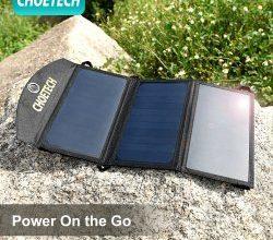 Пожалуй, лучшая портативная солнечная панель для туриста/походов Choetech на 19 китайских Вт.