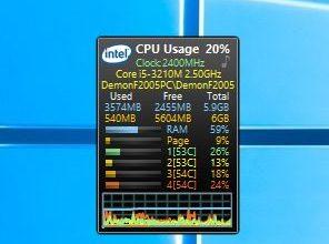 Гаджеты температуры процессора для Windows 7