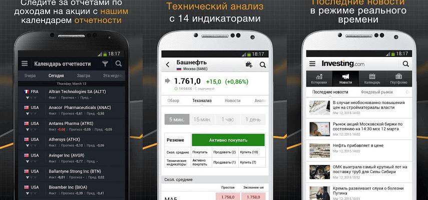 6 приложений для мониторинга котировок акций на Android