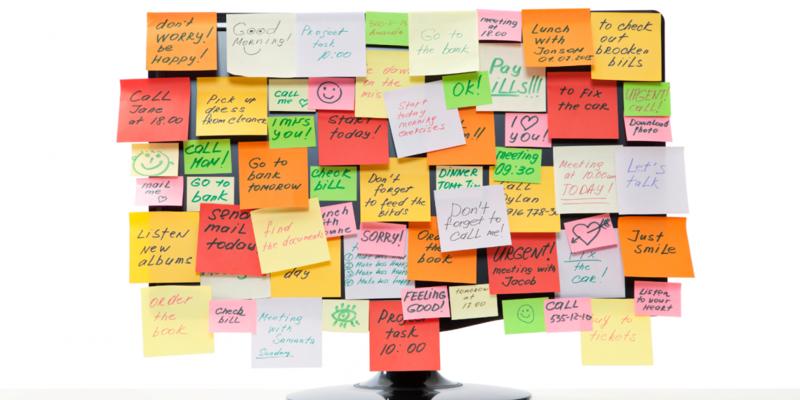 Разноцветные стикеры на рабочий стол — Гаджет для Windows 7