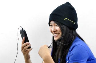 Шерстяная шапка с наушниками, микрофоном и функцией беспроводной bluetooth 5.0 стерео гарнитуры - купить в интернет-магазине 100gadgets