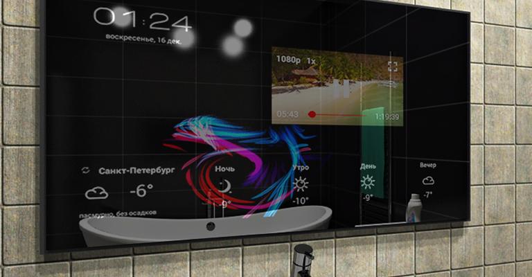 ⚡Энтузиаст смог создать «умное» зеркало с сенсорным вводом и функцией распознавания лица | Технологии | Дайджест новостей | Клуб DNS